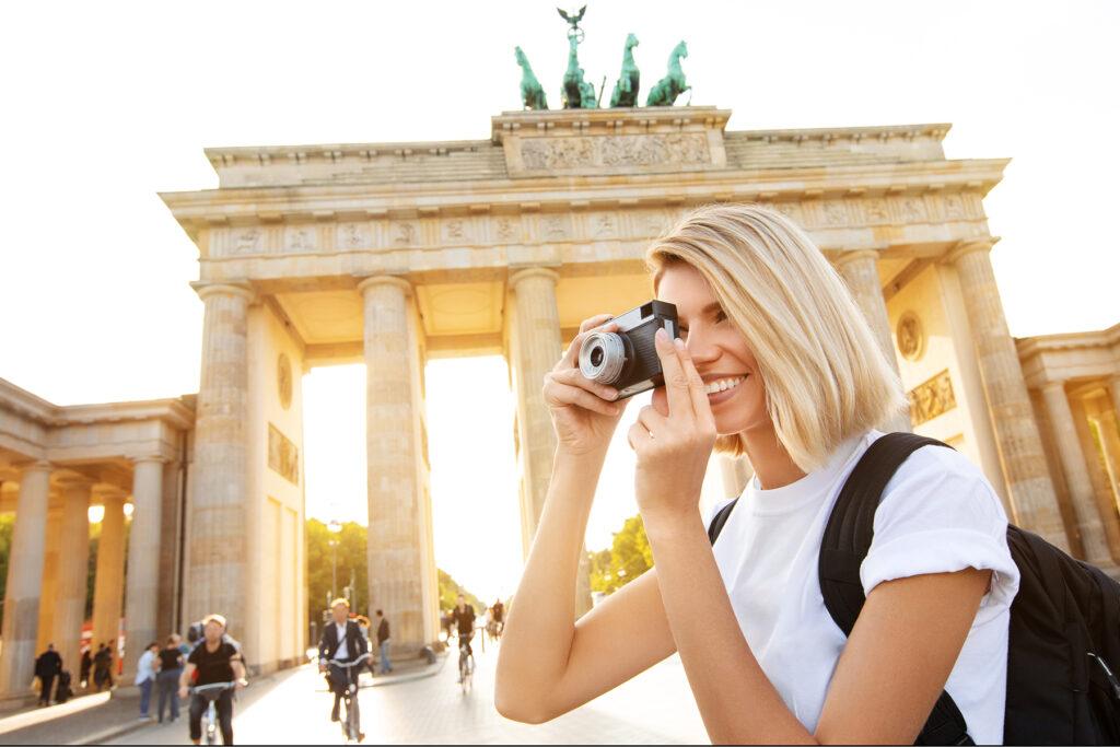 Frau Tourismus